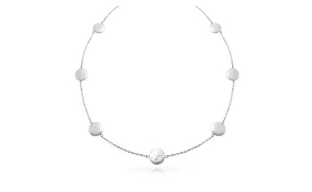 Bling Jewelry 925 Silver Cultured Pearl Tin Cup Necklace 10mm 20in aa1b1ff7-0b08-4275-995a-435cb12006bf