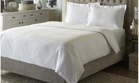 British Hotel Premium Cotton Wrinkle-free Damask Duvet Cover Set