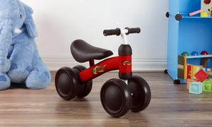 Ride-On No-Pedal Mini Trike with Easy-Grip Handles and Enclosed Wheels