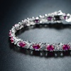 Peermont Lab Created Ruby and Diamond Accent Tennis Bracelet