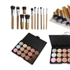 15 Color Concealer Palette Kit with 11pcs Bamboo Brush Face Makeup