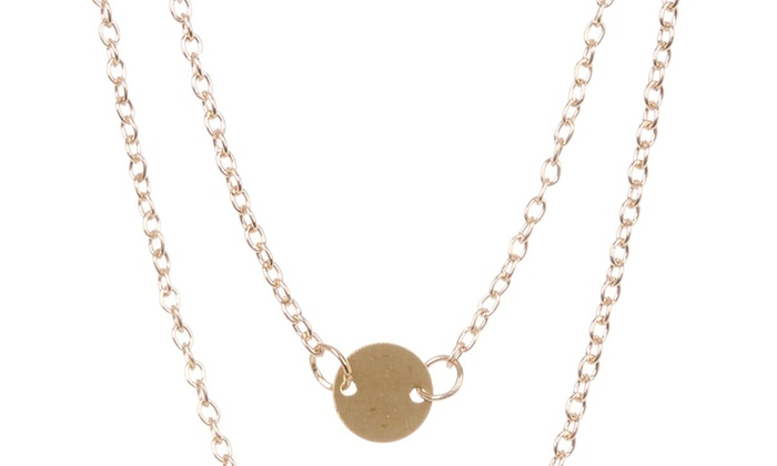 55e28f656915c Simple Double Layer Charm Necklaces