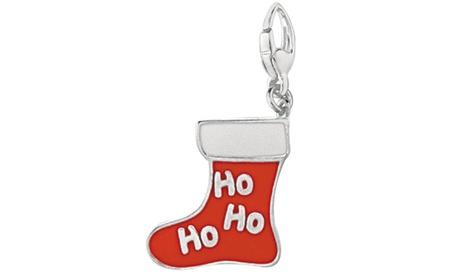 Sterling Silver Women's HO HO HO CHRISTMAS STOCKING Charm 31e38661-a21b-4f79-9ff5-57137a85d609
