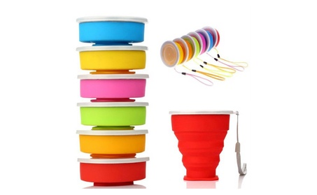 Collapsible Travel Silicone Bpa-free 7 Ounce Foldable Cup aac4bf1f-fcd5-45a2-a314-499b3e979d38