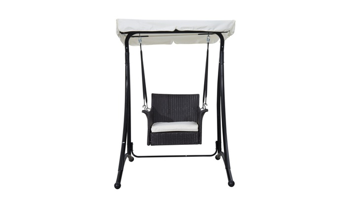 Single Seat Rattan Wicker Swing Chair Groupon