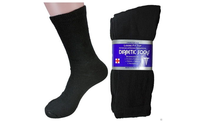 6 Pairs Mens Physician Approved Therapeutic Diabetic Compression socks