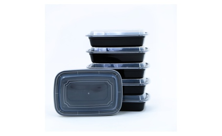 10 Pc 1 Compartment Reusable Food Storage Containers Meal Prep Fitness photo