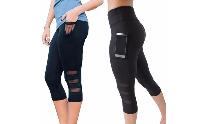 288ab55304a1 Up To 80% Off on High Waist Out Pocket Yoga Ca... | Groupon Goods