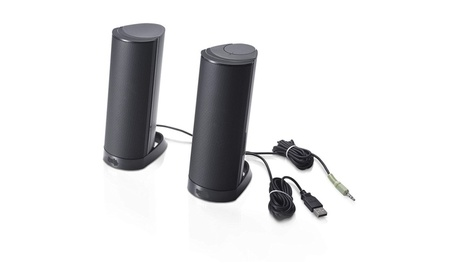 Stereo Speaker System Black Desktop Dell Computer Speakers Accessories d80675a3-1745-4f00-981f-b6a47957e508