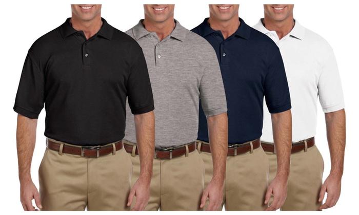 (3-Pack) Men's Short-Sleeve Cotton Polos - TBIS