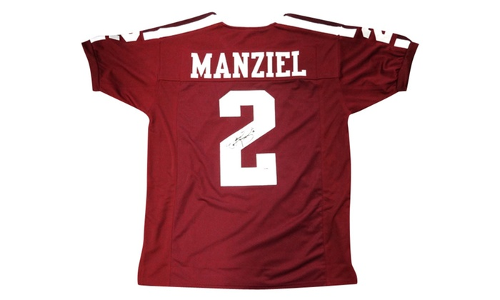 innovative design c6ba7 3053a Autographed Johnny Manziel Texas A&M Aggies Maroon Custom Jersey