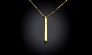14K Gold Plated Dangling Vertical Drop Necklace