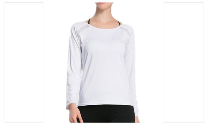 Women Long Sleeve Shirt For Fitness Yoga Tops