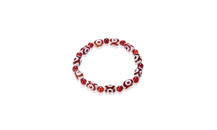 Tibetan Amulet DZI Bead Agate Tian Zhu Bracelet 7