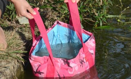 WalvoLife 15-Liter Collapsible Camping Portable Waterproof Bucket eebe8276-bcf7-449f-96df-43424383f2da