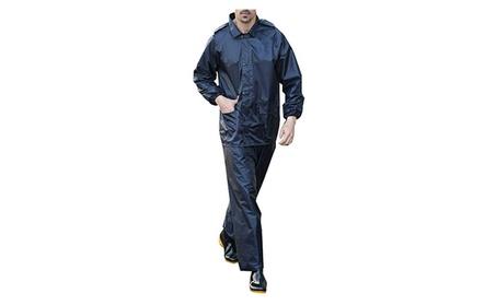 QZUnique Men's Lightweight Outdoor Waterproof Rain Jacket Raincoat 6e0862b0-18b6-46f3-91fd-8c545908db84
