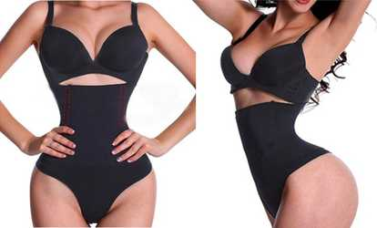 89b50af68e14c Shop Groupon Tummy Control High Waist Hips Lift Panty Bodysuit Shapewear