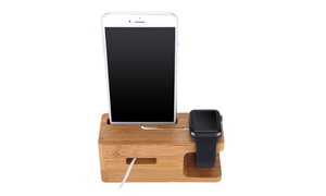 iPM Wooden Cradle Dock for Apple Watch and iPhone