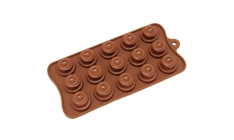 Freshware 15-Cavity Silicone Cone Chocolate, Candy and Gummy Mold d19a9caa-3d3d-4397-b6fc-1e7cc9ad1b8f