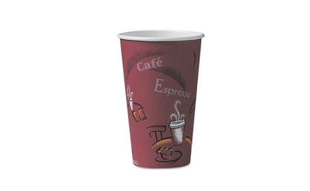 SOLO Cup Company OF16BI-0041 Bistro Design Hot Drink Cups- Paper- 16 cb1a5ddd-b902-48c0-92f5-9ccbf5a41251