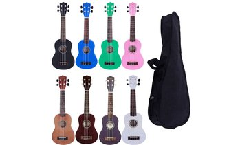 "21"" 7 Colors, Rosewood Fingerboard Basswood Soprano Ukulele With Bag"