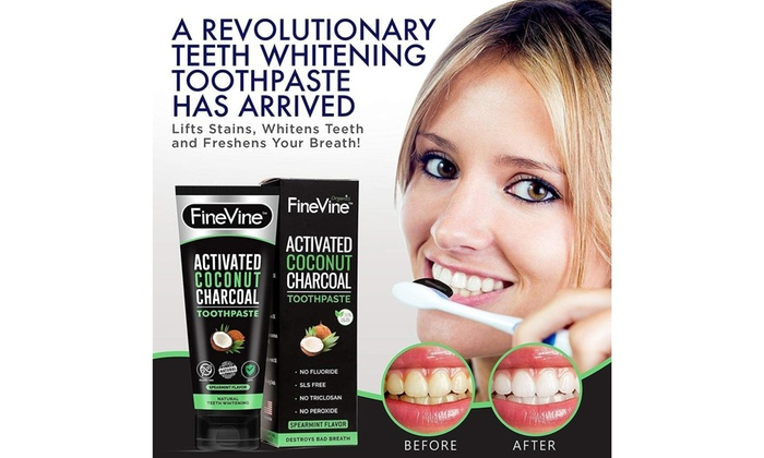 Charcoal Teeth Whitening Toothpaste Made In Usa Groupon