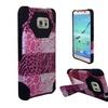 Insten Exotic Skins Hard Hybrid Case For Samsung Galaxy S7 Edge Pink