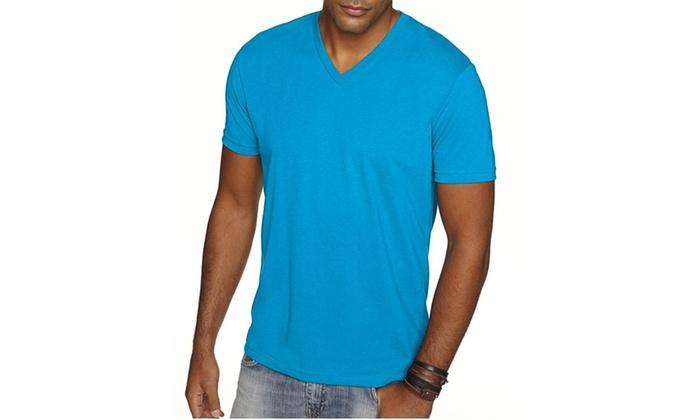 NLA Premium Sueded V-Neck T-Shirt, 6440-4