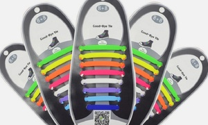 Waloo Kids' and Adults' No-Tie Silicone Shoelace Set (16-Piece)