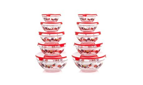Chef Buddy 20 Piece Glass Bowl Set e42c0673-e3e8-4c74-86a7-52678c7849ff