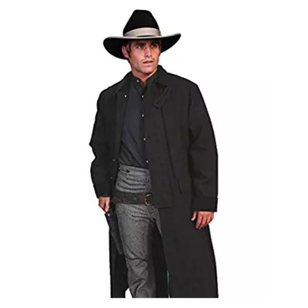 eae6ea003 Scully RW107-BLK-L Mens Rangewear Canvas Duster Jacket, Black, Large