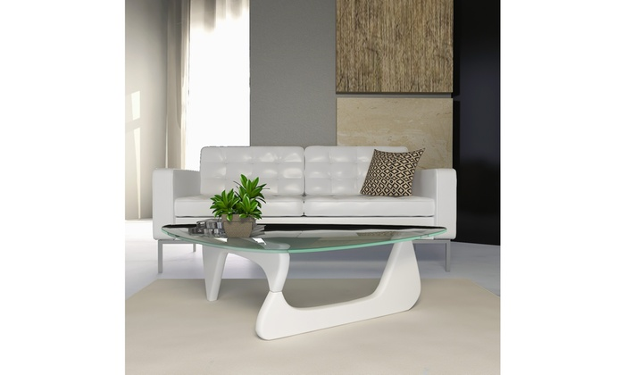 Modern Gl Top Triangle Coffee Table
