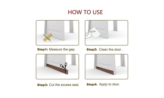 Up To 43% Off on Under Door Silicone Self-Adhe    | Groupon