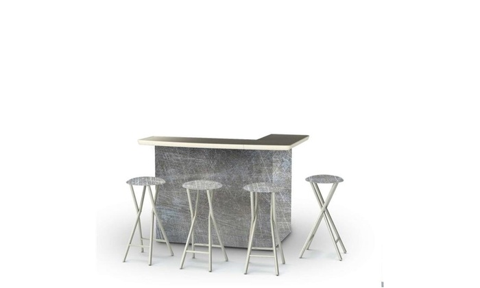 Stupendous Best Of Times 2002W2410 Garage Metal Portable Bar Matching Bar Stools Black Ncnpc Chair Design For Home Ncnpcorg