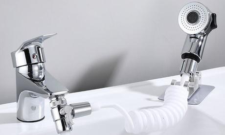 Stainless Kitchen Sink Faucet Sprayer Set External Faucet Shower Wash Face Basin