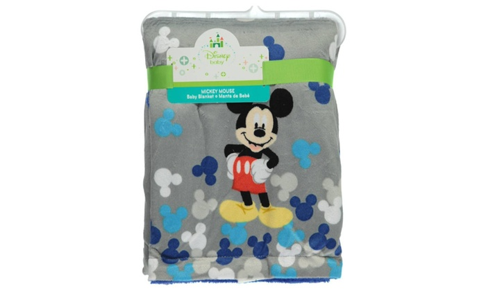 Disney Mickey Mouse Printed Velboa Baby Blanket | Groupon : mickey mouse baby quilt - Adamdwight.com