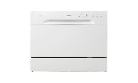 Danby DDW621WDB 6 Place Setting Countertop Dishwasher, White photo