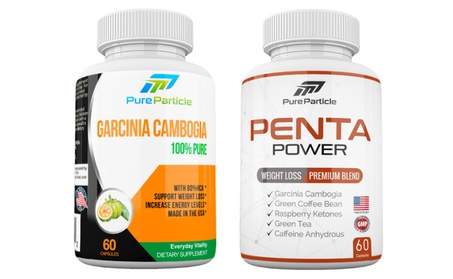 Garcinia Cambogia and Penta Power Weight Loss Supplement Set 2 bottles