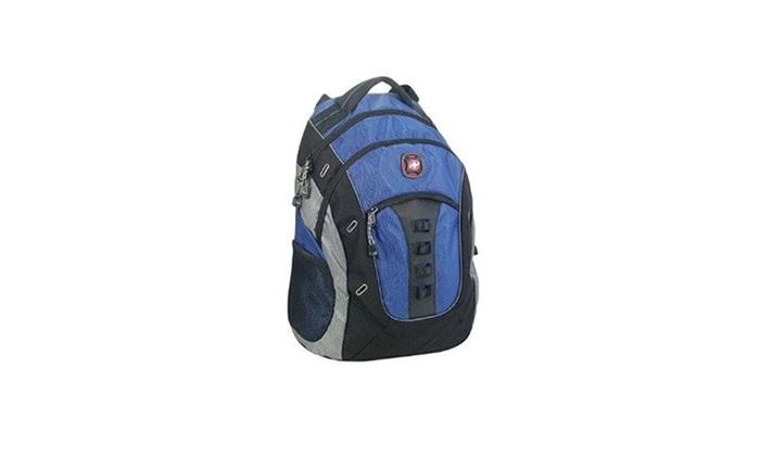 Swiss Gear Granite Deluxe Laptop Backpack Blue Black Groupon