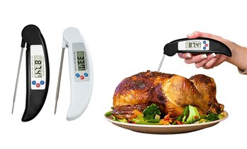 ProThermo Instant-Read Stainless Steel Digital Meat and Poultry Thermometer