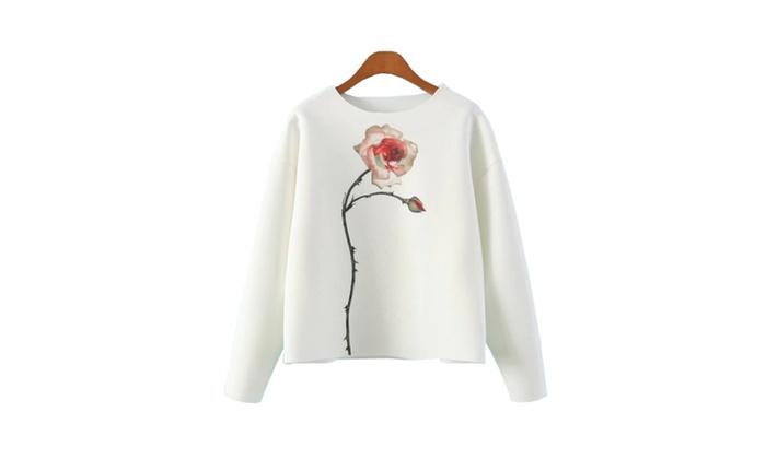 Women's Graphic Popular Without Hood Sweatshirt