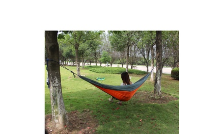 Portable Travel Camping Nylon Parachute Swing 2 Person Hammock 2 Color