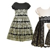 Girls 2T-16 Knit to Lace Special Occasion Social Party Dress