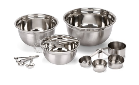 12 Piece Stainless Steel Mixing Bowls Set 32e8a50a-ea88-49cc-a12f-f3726b224252