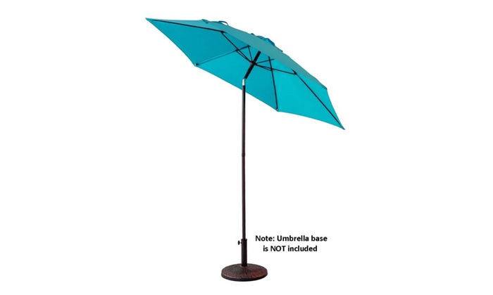 7 5 Outdoor Patio Market Umbrella With Push On Tilt