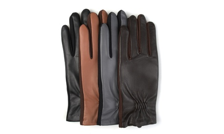 Journee Collection Womens Lined Leather Gloves 97f89889-08f8-431a-8ec2-07cb67588b29