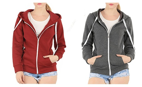 Womens Soft Zip Up Fleece Hoodie Sweater Jacket e7f80919-0976-48be-82fc-36d807b9201c