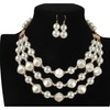Fashion Imitation Pearl Necklaces & Pendant Jewelry Set