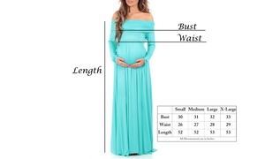Womens Cowl Neck and Over The Shoulder Maternity Dress