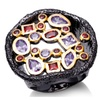Cubic Zirconia Antique Black Gold Unisex Ring